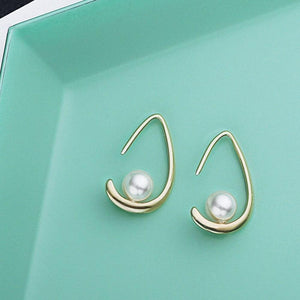 Sterling Silver Shell Pearl Dangle Hook Earring Wholesale 3