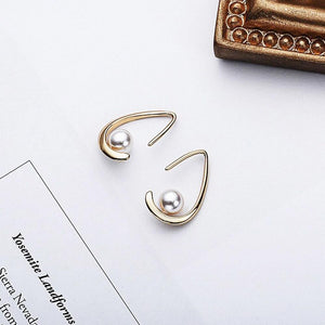 Sterling Silver Shell Pearl Dangle Hook Earring Wholesale