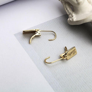 Gold Plated Sterling Silver Lucky Leverback Earrings Wholesale 2