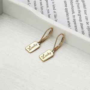 Gold Plated Sterling Silver Lucky Leverback Earrings Wholesale 3