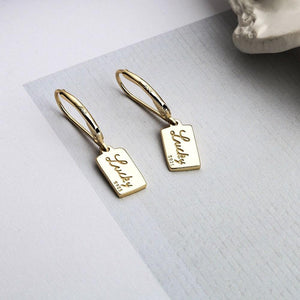 Gold Plated Sterling Silver Lucky Leverback Earrings Wholesale
