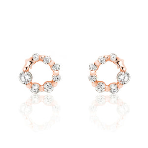 Rose Gold over Sterling Silver CZ Glamorous Earrings Wholesale Lots