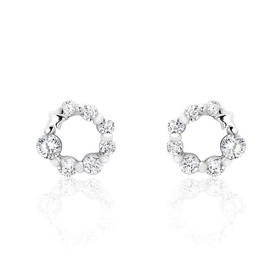 925 Sterling Silver Cubic Zirconia Glamorous Earrings Wholesale