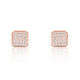 Sparkling Square Silver Cubic Zirconia Earrings Rose Wholesale Lots