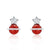 CZ Red Agate 925 Sterling Silver Grand Earrings Wholesale - SilverLots