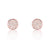 ZZZZZ123 Rose Gold Plated Silver Cubic Zirconia Modern Circle Earrings
