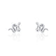 Adorable Snake Cubic Zirconia 925 Sterling Silver Earrings Wholesale