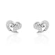 ZZZZZ123 Beautiful Heart 925 Sterling Silver Cubic Zirconia Earrings