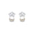 925 Sterling Silver Lovely Crown Earrings Studs Wholesale