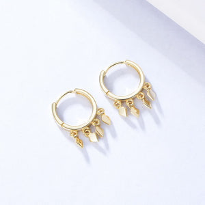 925 Sterling Silver Cluster Drop Hoop Earrings Wholesale 2