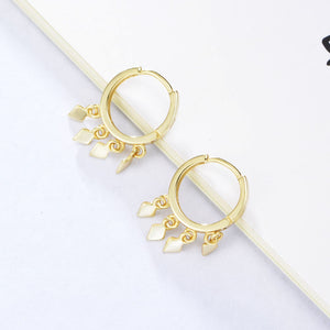 925 Sterling Silver Cluster Drop Hoop Earrings Wholesale