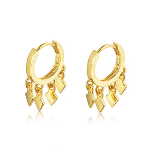 925 Sterling Silver Cluster Drop Hoop Earrings Wholesale 4