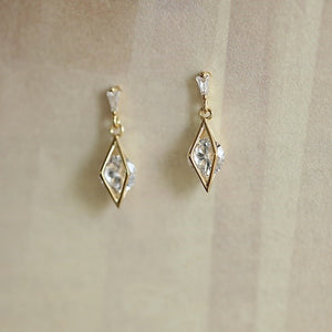 Sterling Silver Sparkling CZ Drop Earrings Wholesale