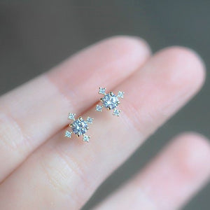 Sparkling CZ Stud Earrings Wholesale