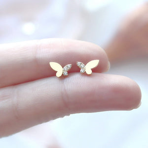 Sterling Silver Tiny Butterfly Earrings Wholesale  3