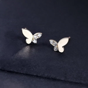 Sterling Silver Tiny Butterfly Earrings Wholesale
