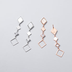 Princess Cut CZ Statement Drop Dangles Earrings Wholesale