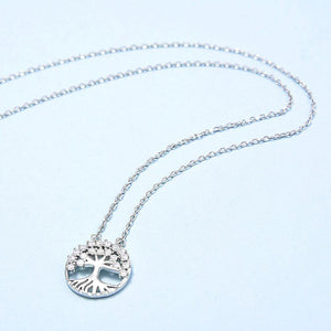 Sparkling Cubic Zirconia Tree of Life Necklace Wholesale 2