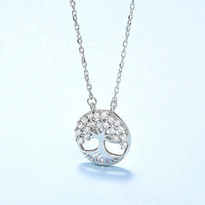 Sparkling Cubic Zirconia Tree of Life Necklace Wholesale