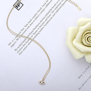Minimalist Evil Eye Necklace Wholesale 2