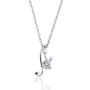 Sterling Silver 0.45 Carat CZ Pendant Necklace Wholesale