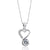 Gracious Heart Sterling Silver 1.4 Ct CZ Pendant Necklace Wholesale Lots