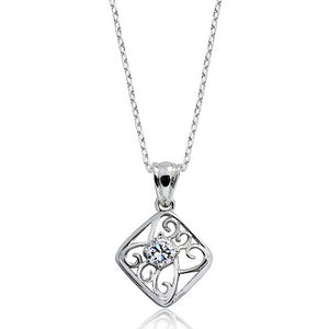 Vintage Style Silver CZ Necklace Wholesale Lot