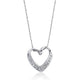 "5pcs/Lot 925 Sterling Silver Fancy Heart Pendant Necklace 16""+ 2"""
