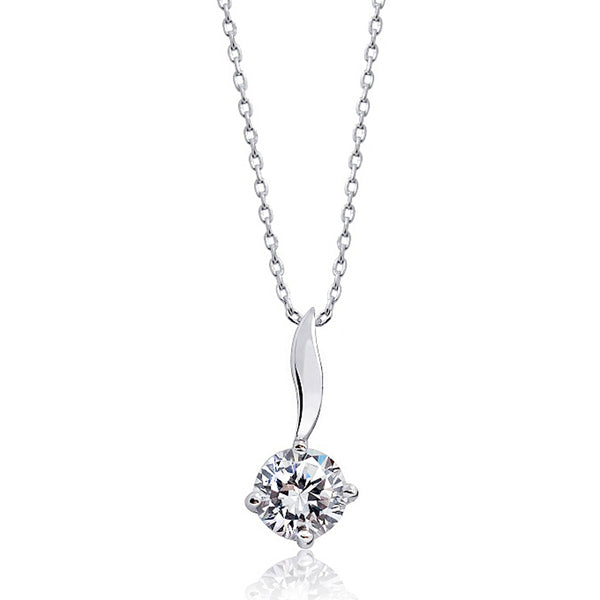 925 Sterling Silver Solitaire CZ Necklace Wholesale Lots