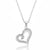 Sterling Silver CZ Beautiful Heart Necklace Wholesale Lots
