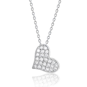 Sterling Silver Beautiful Cute Heart Necklace Wholesale
