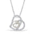 Sterling Silver CZ 8-9 mm Pearl Heart Necklace Wholesale 2
