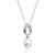 8-9 mm Pearl CZ 925 Sterling Silver Necklace