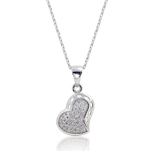 Gracious Micro Pave CZ Heart Pendant Wholesale Lots