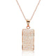 Fancy Rose Gold Plated Silver Pave CZ Pendant Necklace Wholesale