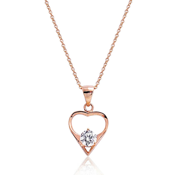 Rose Gold Plated Sterling Silver CZ Necklace Wholesale Lots
