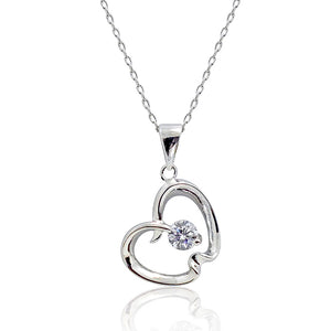 Sterling Silver 0.65 Carat CZ Apple Necklace Wholesale Lots