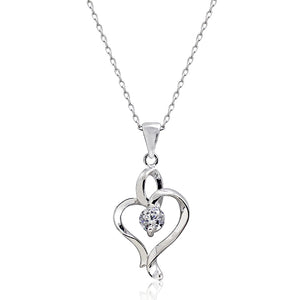 Graceful 0.65 Ct CZ Silver Necklace Wholesale Lots