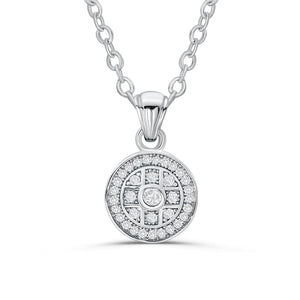 Classic Pave CZ Sterling Silver Pendant Necklace Wholesale Lot 2