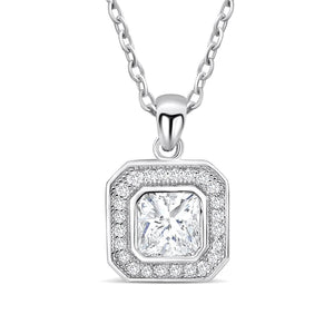 Sterling Silver Octagonal Cut CZ Necklace Wholesale Lots 2