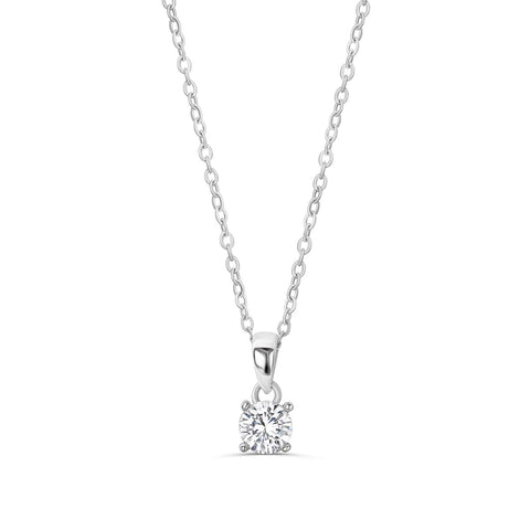 Sterling Silver 1.4 Carat CZ Solitaire Necklace Wholesale Lots