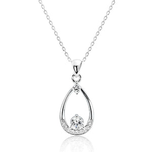 Beautiful Sterling Silver CZ Pendant Necklace Wholesale Lots