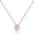 Rose Gold Plated Silver Pure Circle CZ Necklace