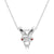 CZ Silver Sheep Pendant Necklace Wholesale