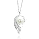Sterling Silver CZ Fashion Pearl Necklace Wholesale Lots