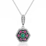 Magnificent Multi Color Sterling Silver Necklace Wholesale Lots