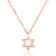Rose Gold Plated Sterling Silver Star of David Necklace Wholesale Lots