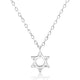 5pcs/Lot Sterling Silver Star of David Necklace Wholesale