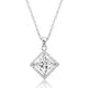 Sterling Silver CZ Princess Cut Pendant Necklace Wholesale Lots