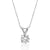 Sterling Silver 10mm CZ Solitaire Necklace Wholesale Lots